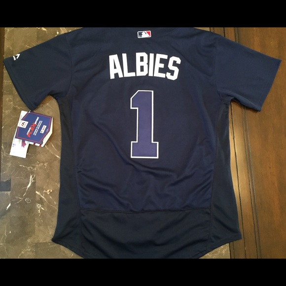 innovative design 8b4c1 3fec2 Ozzie Albies Atlanta Braves stitched jersey NWT